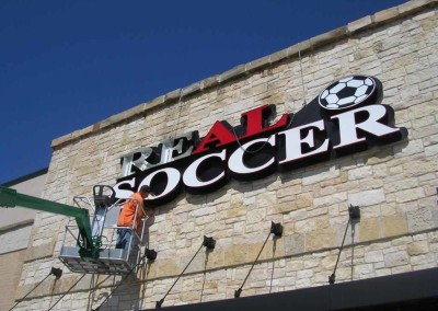 Real Soccer Channel Letters by Signs of Significance