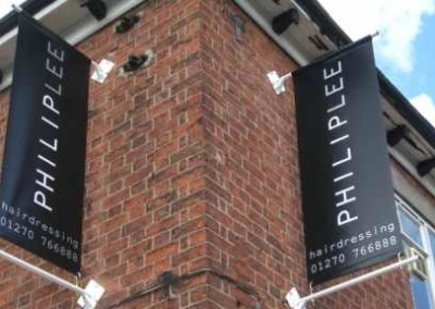 exterior-vertical-hanging-banners by Signs of Significance